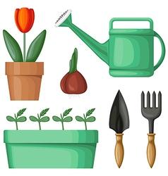 garden tool set vector image
