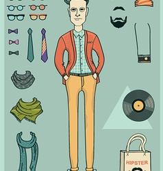 Hipster man vector