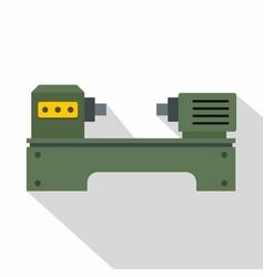 Lathe machine icon flat style vector