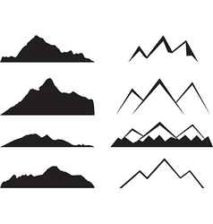 Mountains silhouette vector
