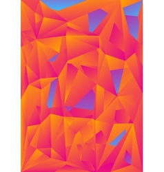 Orange blue abstract polygonal background vector