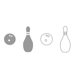 pin and bowling ball it is black icon vector image