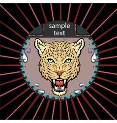 Portrait of a leopard vector image