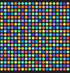 Rainbow polka dot pattern seamless background vector