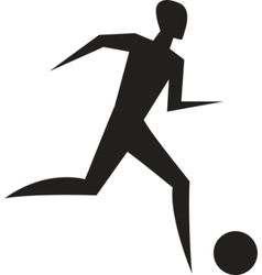 running man sport sign vector image