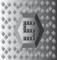 S text aluminium wallpaper vector