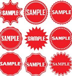 Sample signs set sample sticker set vector