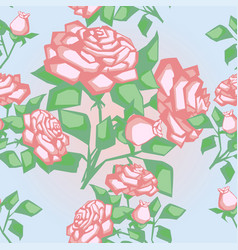 seamless texture with roses vector image