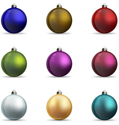 Set colorful christmas balls vector