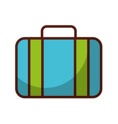 shadow blue suitcase cartoon vector image