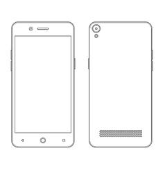 Smartphone outline contour vector