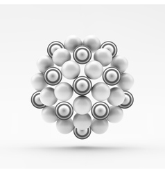 Sphere Molecular Structure Geometrical Composition vector image