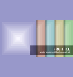 square pattern set fruit ice seamless vector image