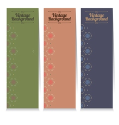Three Vintage Oriental Style Vertical Banners vector image vector image