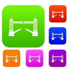 Tower bridge set collection vector