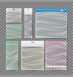 transparent plastic pocket bags polythene vector image vector image
