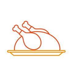 turkey dinner cartoon traditional food for vector image