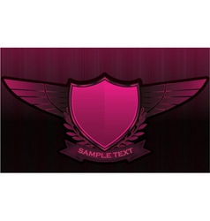 vintage emblems with shield vector image vector image