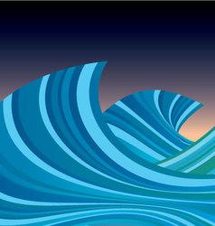 Wave decoration vector