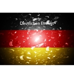 Day of german unity abstract design tag der vector