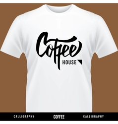 Coffee hand lettering - handmade calligraphy vector
