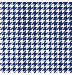 Blue check plaid seamless fabric texture vector