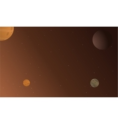 Planet and star beautiful landscape vector image