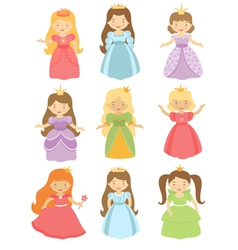 Fairy princesses set vector