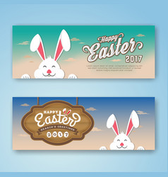 Happy easter 2017 web banner vector