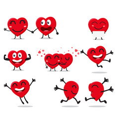 heart valentine cartoon character vector image