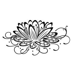 Lotus flower design element vector