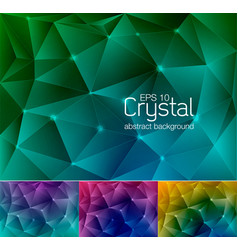 Crystal abstract background 7 vector