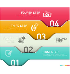 Abstract infographics steps design template vector