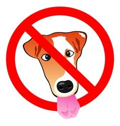 Stop dog vector