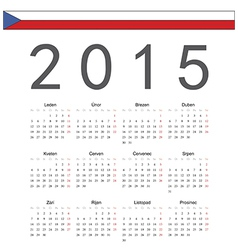 Square czech 2015 year calendar vector