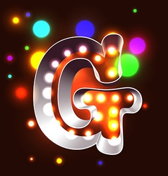 Retro vegas lamps ABC for signboard vector image