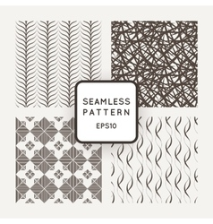 A set of four seamless patterns waves vector