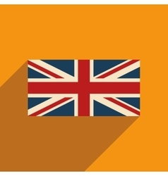 Flat icon with long shadow british flag vector