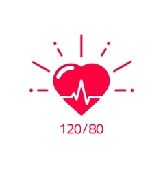 Blood pressure icon good health heart logo vector image