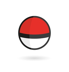 Red Game Ball to Play In The Team vector image