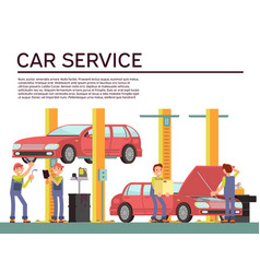 automobile service and vehicle check vector image vector image