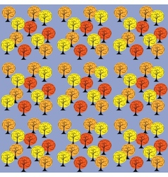 Autumn Trees Seamless Pattern Background vector image vector image