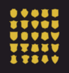 Big set of badge shapes vector