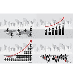 Business concept with businessman graph and modern vector