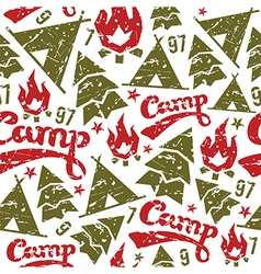 Camping seamless patterns vector