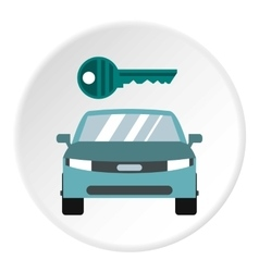 Car from impound yard icon flat style vector