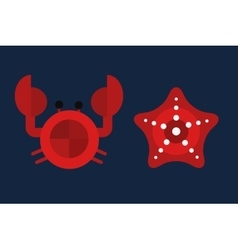 cartoon of cute crab character vector image