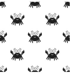 crab black icon for web and mobile vector image vector image