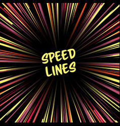 Fast speed warp effect lines zoom fade vector