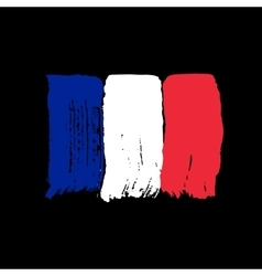 Flag of France on a black background vector image vector image